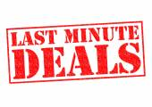LAST MINUTE DEALS — Foto de Stock