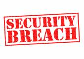 SECURITY BREACH — Stock Photo