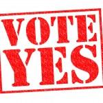 VOTE YES — Stock Photo #53986337