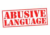 ABUSIVE LANGUAGE — Stock Photo