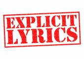 EXPLICIT LYRICS — Stock Photo