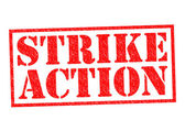 STRIKE ACTION — Stock Photo