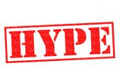 HYPE Rubber Stamp — Stock Photo