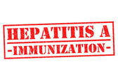 HEPATITIS A IMMUNIZATION — Stock Photo