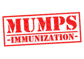 MUMPS IMMUNIZATION — Stock Photo