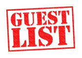 GUEST LIST — Stock Photo