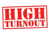 HIGH TURNOUT — Foto de Stock