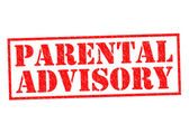 PARENTAL ADVISORY — Stock Photo
