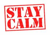 STAY CALM — Stock Photo