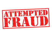 ATTEMPTED FRAUD — Stock Photo
