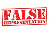 FALSE REPRESENTATION — Stock Photo