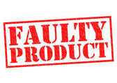 FAULTY PRODUCT — Stock Photo