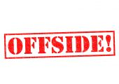 OFFSIDE! — Stock Photo