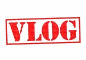 Vlog gummistämpel — Stockfoto