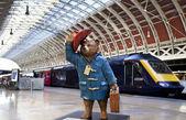 Paddington Bear at Paddington Station in London — Stock Photo