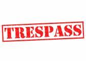 TRESPASS — Stock Photo