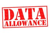 DATA ALLOWANCE — Stock Photo