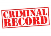 CRIMINAL RECORD — Stock Photo
