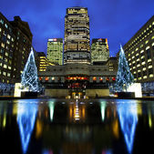 Docklands in London at Christmas — Stock Photo
