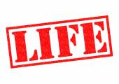 LIFE Rubber stamp — Stock Photo