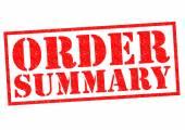 Overzicht van bestelling — Stockfoto