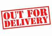 OUT FOR DELIVERY — Stock Photo