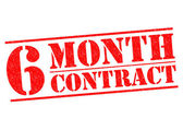 6 MONTH CONTRACT — Stock Photo