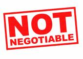 NOT NEGOTIABLE — Stock Photo
