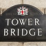 Tower Bridge Sign — Stock Photo #66408793