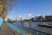 View from the Thames Path in London — Stock Photo