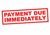 PAYMENT DUE IMMEDIATELY — Stock Photo