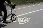 A Cycle Path in London — Stock Photo