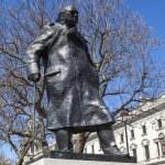 Sir Winston Churchill Statue in London — Stock Photo #70941071