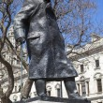 Sir Winston Churchill Statue in London — Stock Photo #70941073