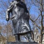 Sir Winston Churchill Statue in London — Stock Photo #70941077