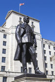 Hugh Trenchard Statue in London — Stock Photo