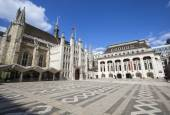 Guildhall and Guildhall Art Gallery in London — Stock Photo