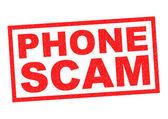 PHONE SCAM — Stock Photo