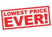 LOWEST PRICE EVER! — Stock Photo
