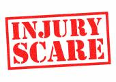 INJURY SCARE — Stock Photo