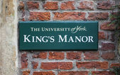 King's Manor in York — Stock Photo