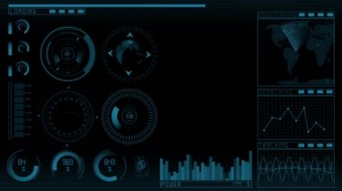 Animation technology GUI — Stock Video