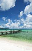 Sok san pier on long beach in koh rong island cambodia — Stock Photo