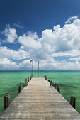 Sok san pier on long beach in koh rong island cambodia — Stock Photo