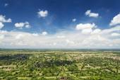 View from phnom chisor temple in cambodia — Stock Photo