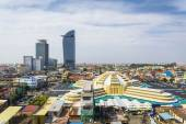 Central phnom penh in cambodia — Stock Photo
