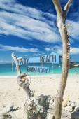 Puka beach in boracay island philippines — Stock Photo