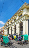 Tricycle taxis in historic intramuros area of manila philippines — Stock Photo