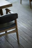 Interior design detail of retro wood furniture — Stock Photo