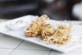 Asian vegetable fried spring rolls — Stock Photo